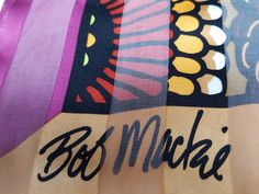 If you love this bold BOB MACKIE WEARABLE ART silk scarf you can buy it at www:eivey.ca