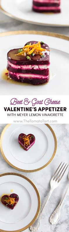 Gluten Free Beet and Goat Cheese Appetizer with Meyer Lemon Vinaigrette (Cheese Appetizers) Gluten Free Recipes, Vegetarian Recipes, Cooking Recipes, Healthy Recipes, Delicious Recipes, Keto Recipes, Holiday Recipes, Great Recipes, Favorite Recipes