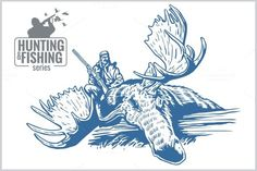 Check out 5 Hunting and fishing vintage emblem by Digital-Clipart on Creative Market