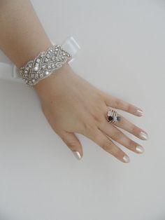 Hey, I found this really awesome Etsy listing at http://www.etsy.com/listing/153733407/rhinestone-bracelet-wedding-jewelry-cuff