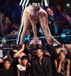 """""""Will Smiths familys reaction to Miley Cyruss VMAs performance"""" 