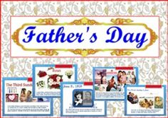 Father's Day PowerPoint PresentationIt is about the History of Father's Day with pictures. I hope this would help students love their fathers more.If you find any mistake,Please give me a very kind comment for improving. Thank you very much Smiley teacherThis presentation related with: Mother's Day PowerPoint PresentationMy other interesting items:1.