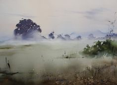 Ilya Ibryaev  - Early morning - watercolor -53х35 cm