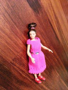 Handmade pink dolls dress. Lammily doll pink dress. by GrannyJack