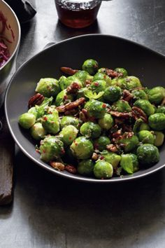 Give your Brussels sprouts a make-over this Christmas with the Waitrose recipe for lemon and sage-buttered Brussels served with pecans.