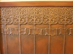 Close up of the art nouveau lincrusta wainscoting. A Personal favourite