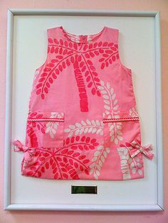 such good idea! frame your minnie's first lilly. HAVE TO DO THIS!!!