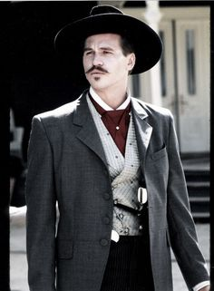 Val Kilmer as Doc Holliday in Tombstone O Cowboy, Cowboy Girl, Val Kilmer, Tombstone Movie, Tombstone Quotes, Tombstone 1993, I Movie, Movie Stars, Movie Cast