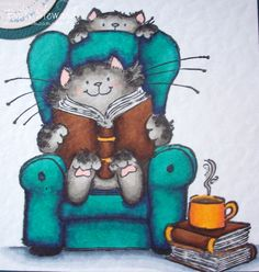 Penny Black stamp. I just love kitties