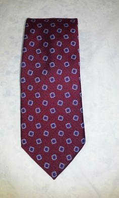 307d18ecbd4 Brooks Brothers Silk Tie Necktie Red Blue Geometric Tie  BrooksBrothers   neckties Ebay Listing
