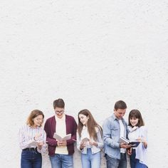 Young people standing and reading books . Free Stock Photos, Free Photos, Student Photo, Group Study, Books To Read, Reading Books, Website Design Inspiration, Young People, Couple Photos