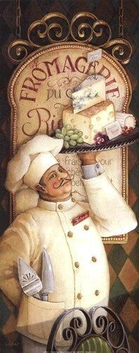Lisa Audit 'Chef Canvas Art - 24 x 47 3 Canvas Art, Artist Canvas, Vintage Labels, Vintage Posters, Vintage Cards, Vintage Illustration, Retro, Le Chef, Decoupage Paper