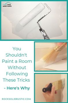 This is the easiest way to apply paint to walls, paint straight clean lines alon. Steps To Painting A Room, Painting Trim, House Painting, Diy Painting, Painting Walls Tips, Painting Corners, Cheap Beach Decor, Ceiling Trim, Paint Line