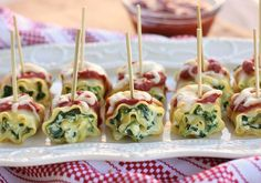 20 Mouthwatering Miniature Food Ideas: mini lasagna roll-ups