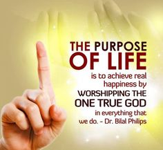 """Life becomes understandable by understanding our purpose. Our purpose is to worship/obey the One who created life.  """"And I have not created the jinn and mankind to except to worship Me"""" Quran 51:56"""