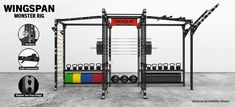 Complete Rogue Monster Wingspan Rig w/ attachments