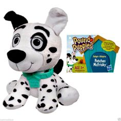 "Hasbro Pound Puppie Patches McFrisky Cute Mini Black/White Soft Plush - 6"" Tall - May 29, 2014 - $39.99 - #FreeShipping"
