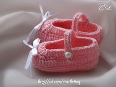 #crochet_slippers #crochet_baby_booties by Elena Daniliuk (Odessa, Ukraine)  official page - www.vk.com/crocheting