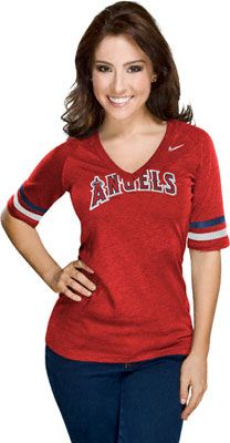 Los Angeles Angels of Anaheim Women's Nike Red V-Neck Fan T-Shirt
