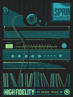 "Top Five Records"" by Salvador Anguiano. 18″ x 24″ Screenprint. Ed of 45. Anguiano top five records"