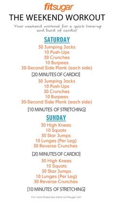 A great, simple routine for the weekends.  I need to try this.