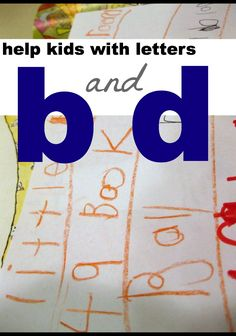 help with letters b and d -- fun and easy ways to help kids remember these tricky letters #weteach