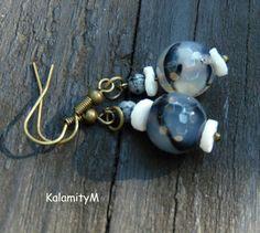 Harlekýn - achátové náušnice achát dárek náušnice mušle staromosaz vločkový… Pearl Earrings, Pearls, Jewelry, Pearl Studs, Jewlery, Jewerly, Beads, Schmuck, Jewels