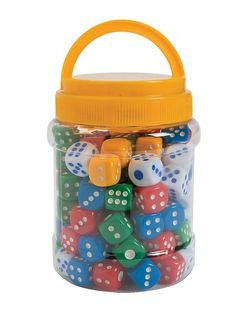 Dice can be used for a variety of math activities. I also like that these dice are different colors. I could use dice like this for fun math games. Teaching Supplies, Classroom Supplies, Teaching Tools, Fun Math Games, Math Activities, Dice Games, Smart Snacks, Transitional Kindergarten, Math Manipulatives