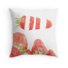 """""""Strawberries"""" Throw Pillows by VanGalt 