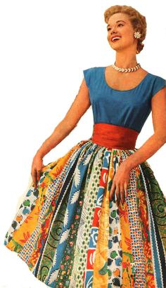 Patchwork/quilting dress stolen from Mena at The Sew Weekly who's a harbinger of good inspiration.