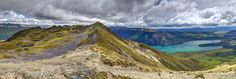 This HDR panorama was composed of 42 photos for the HDR). This viewpoint is only 2 hours climb from the lake. Travel Memories, Hdr, New Zealand, Saints, Mountains, Nature, Travel Souvenirs, Naturaleza, Nature Illustration