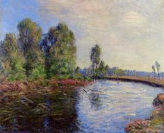 Banks of the Loing - Alfred Sisley - The Athenaeum