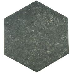 $6.97 Merola Tile Traffic Hex Dark 8-5/8 in. x 9-7/8 in. Porcelain Floor and Wall Tile (11.19 sq. ft. / case)-FCD10TDX - The Home Depot