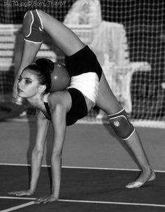 Rhythmic gymnastics....gosh I wish I could be as flexible as them! Like what do they even do to get like that?