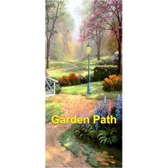 Garden Path Background Scene