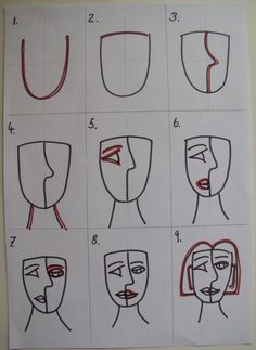 Picasso inspired Portraits              Step 1) Picasso,Abstract Art and Cubism  For our first artlesson I chose a Picasso inspired proj...