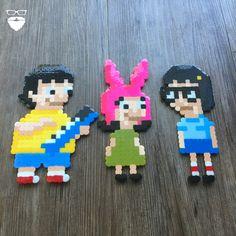 Pierce Pop Art (@piercepopart) on Instagram - Bob's Burgers Tina, Louise and Gene.