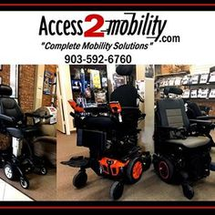 Tyler, Texas: www.access2mobility.com Access 2 Mobility has several wheelchairs and scooters in stock. #scooter #disability #mobility Tyler Texas, Wheelchairs, Disability, Outdoor Power Equipment, Scooters, Knowledge, Type, Products, Motor Scooters