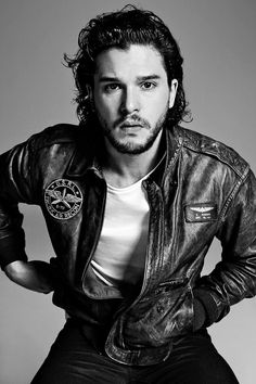 Kit? In a leather jacket? Mmm, yes please.