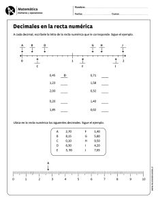 Decimales en la recta numérica
