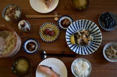 pleasures of japanese breakfast, rice, soup, fish, pickles, tea. by jeffrey ozawa for martha stewart living blog.