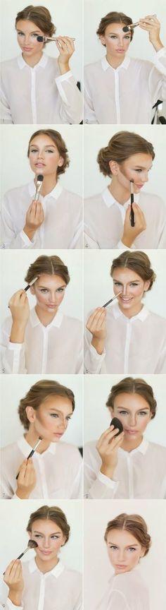 Como resaltar contorno del rostro - http://maquillando.net/como-resaltar-contorno-del-rostro/
