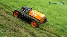 Remote controlled lawnmower RoboFlail mini