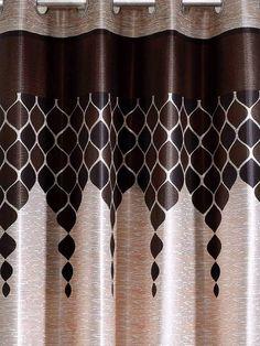 9 Foot Curtains, Small Curtains, Elegant Curtains, Home Curtains, Window Curtains, Galaxy Homes, Living Room Interior, Modern Decor, Brown Brown