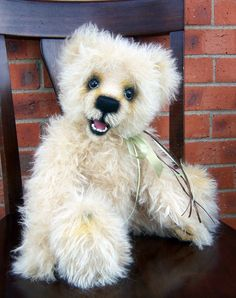 OOAK Smiling Openmouth Mohair Teddy Bear by bearpawsbyroxanne, $325.00