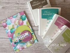 """The release of SaleABration product includes the versatile """"Eclectic Expressions"""" stamp set. I've used it to create a birthday card featuring circles. 9th Birthday, Happy Birthday, Bday Cards, Paper Crafts, Diy Crafts, Card Maker, Happy Colors, Creative Cards, Scrapbook Cards"""