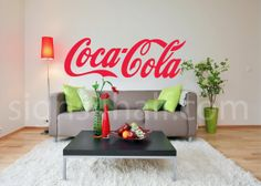 Coca Cola Logo Removable Wall Art Decor Decal Mural by Signs4Half, $8.00