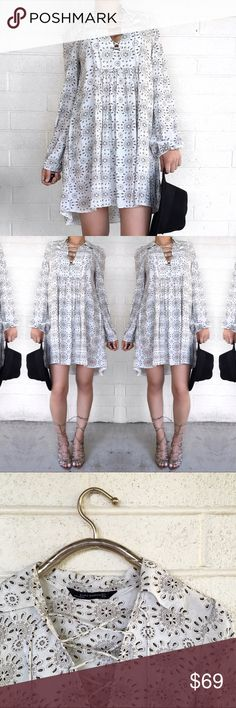 Zara print lace up dress Love this dress! No trades open to offers Zara Dresses