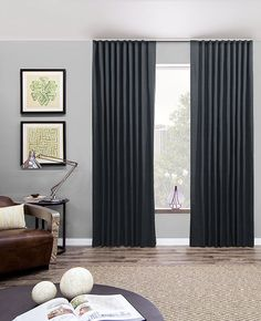 Ripple Fold Drapery by The Shade Store modern-curtains Pinch Pleat Curtains, Pleated Curtains, Dark Curtains, Modern Curtains, Grommet Curtains, Window Curtains, Drapery Styles, Custom Drapes, Custom Window Treatments