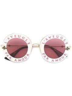 b070fc917da Gucci Eyewear Солнцезащитные Очки в Круглой Оправе - Farfetch